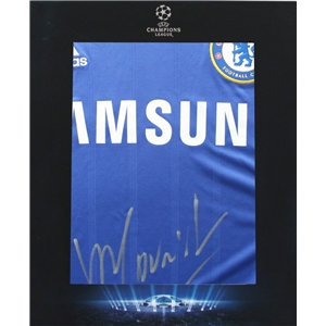 ICONS Official UEFA Champions Leagee Jose Mourinho Signed 2013-2014 Chelsea Jersey
