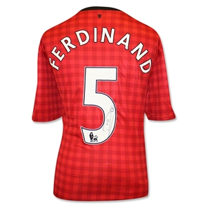 Icons Rio Ferdinand Signed Manchester United 2013 Jersey
