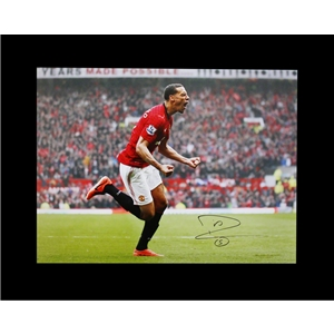 Icons Rio Ferdinand Signed Manchester United Photo Swansea Smash