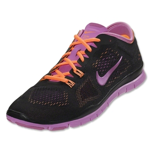 Nike Women's Free 5.0 TR Fit 4 Training Shoe (black/atomic orange/red violet)