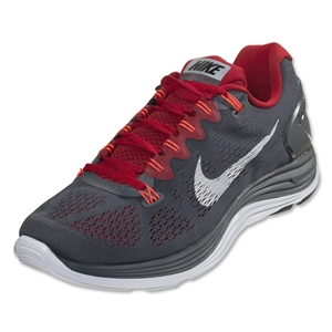 Nike Lunarglide+ 5 Running Shoe (dark grey/gym red/atomic red/white)
