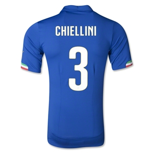 Italy 2014 CHIELLINI Authentic Home Soccer Jersey