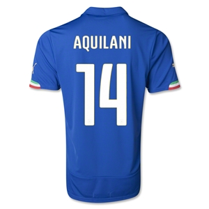 Italy 14/15 AQUILANI Home Soccer Jersey