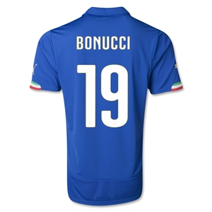 Italy 2014 BONUCCI Home Soccer Jersey