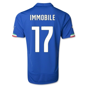 Italy 2014 IMMOBILE Home Soccer Jersey