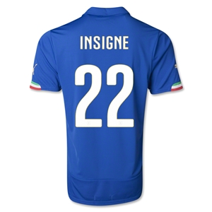 Italy 2014 INSIGNE Home Soccer Jersey
