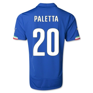 Italy 2014 PALETTA Home Soccer Jersey