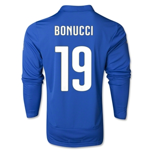 Italy 14/15 BONUCCI LS Home Soccer Jersey
