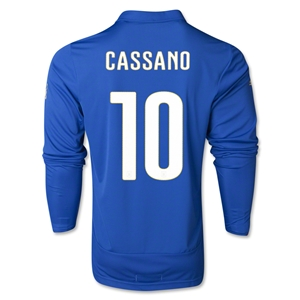 Italy 2014 CASSANO LS Home Soccer Jersey