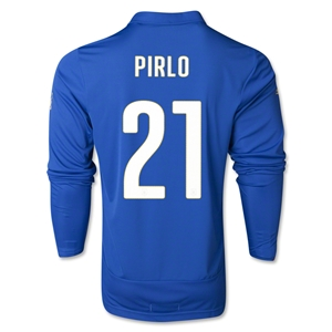 Italy 2014 PIRLO LS Home Soccer Jersey