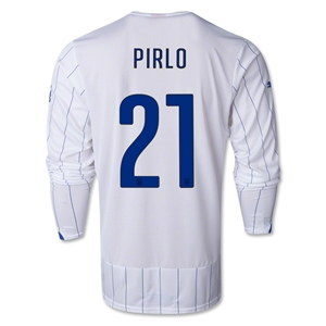 Italy 2014 PIRLO LS Away Soccer Jersey