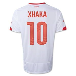 Switzerland 14/15 XHAKA Away Soccer Jersey