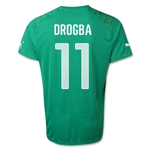 Cote d'Ivoire 2014 DROGBA Away Soccer Jersey