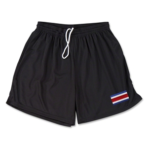 Costa Rica Team Soccer Shorts (Black)