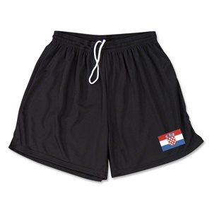 Croatia Team Soccer Shorts (Black)