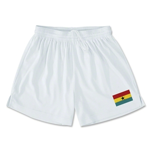 Ghana Team Soccer Shorts (White)