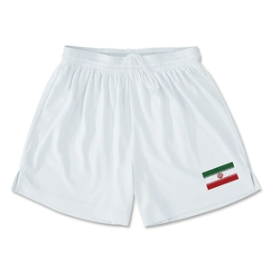Iran Team Soccer Shorts (White)