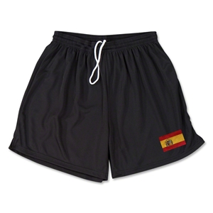 Spain Team Soccer Shorts (Black)