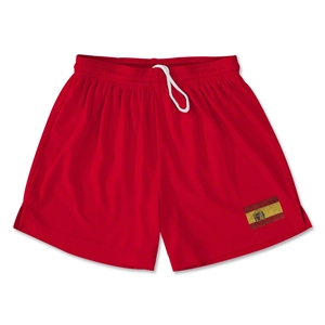 Spain Team Soccer Shorts (Red)