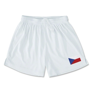 Czech Republic Team Soccer Shorts (White)