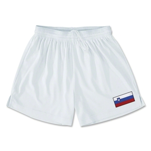 Slovenia Team Soccer Shorts (White)
