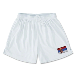Serbia Team Soccer Shorts (White)