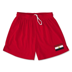 Egypt Team Soccer Shorts (Red)