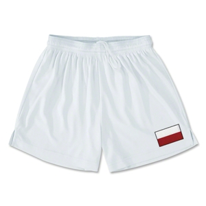 Poland Team Soccer Shorts (White)