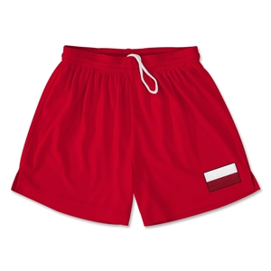Poland Team Soccer Shorts (Red)