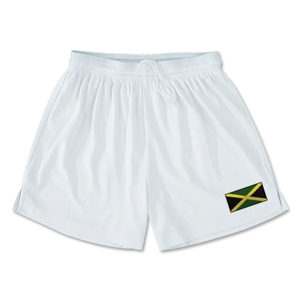 Jamaica Team Soccer Shorts (White)