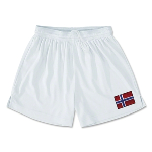 Norway Team Soccer Shorts (White)