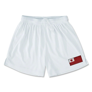 Tonga Team Soccer Shorts (White)