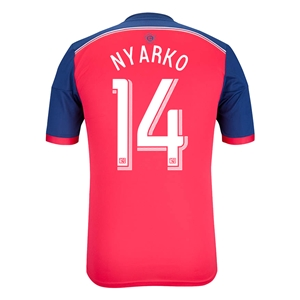 Chicago Fire 2014 NYARKO Authentic Primary Soccer Jersey