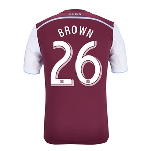 Colorado Rapids 2014 BROWN Authentic Primary Soccer Jersey