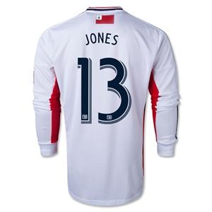 New England Revolution 2014 JONES LS Authentic Secondary Jersey