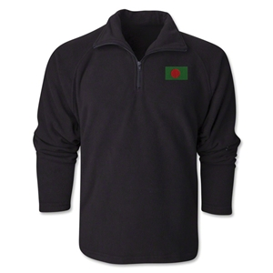 Bangladesh Flag 1/4 Fleece Pullover