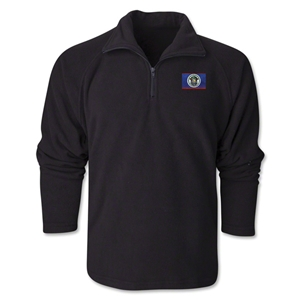 Belize Flag 1/4 Fleece Pullover