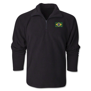 Brazil Flag 1/4 Fleece Pullover