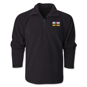 Central African Republic Flag 1/4 Fleece Pullover