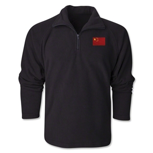 China Flag 1/4 Fleece Pullover