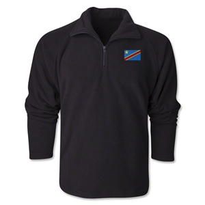 Congo DR Flag 1/4 Fleece Pullover