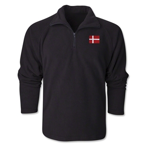 Denmark Flag 1/4 Fleece Pullover