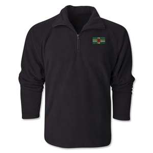 Dominica Flag 1/4 Fleece Pullover