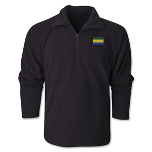 Gabon Flag 1/4 Fleece Pullover