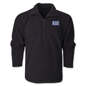 Greece Flag 1/4 Fleece Pullover