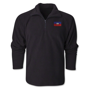 Haiti Flag 1/4 Fleece Pullover