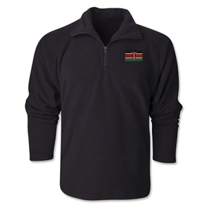 Kenya Flag 1/4 Fleece Pullover