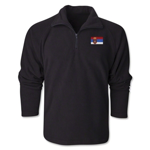 Serbia Flag 1/4 Fleece Pullover