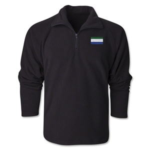 Sierra Leone Flag 1/4 Fleece Pullover