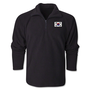 South Korea Flag 1/4 Fleece Pullover